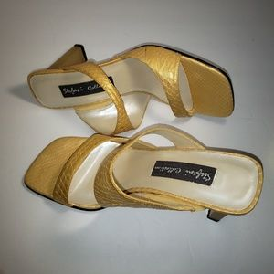 Pre owned Gold Stefani collection heeled Sandals